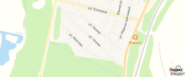 Улица Чехова на карте поселка Чернянка с номерами домов