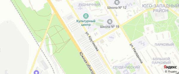 Улица Крутикова на карте Старого Оскола с номерами домов