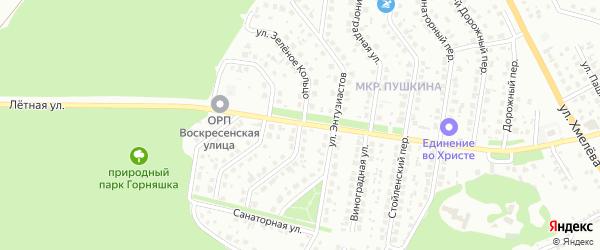 Улица Зеленое кольцо на карте Старого Оскола с номерами домов