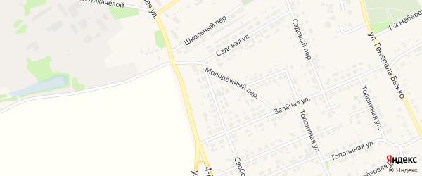 Молодежная улица на карте села Федосеевки с номерами домов