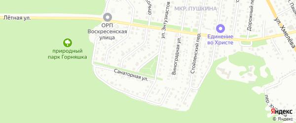Переулок Энтузиастов на карте Старого Оскола с номерами домов