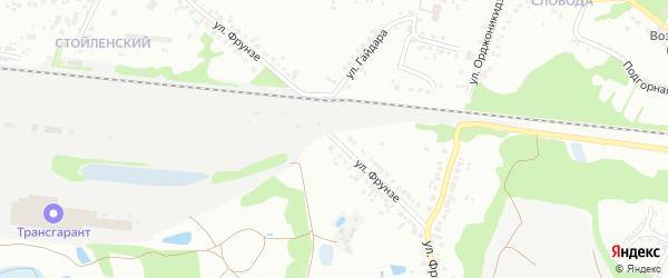 Улица Фрунзе на карте Старого Оскола с номерами домов