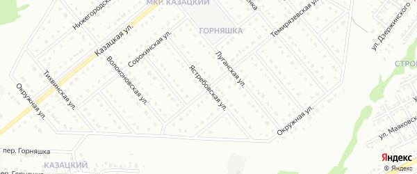 Ястребовская улица на карте Старого Оскола с номерами домов