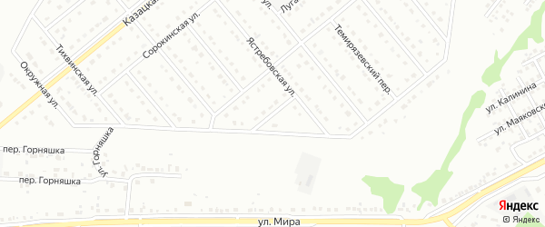 Ястребовский переулок на карте Старого Оскола с номерами домов