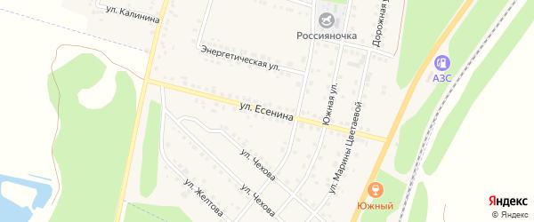 Улица Есенина на карте поселка Чернянка с номерами домов