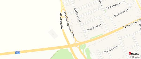 4-й Свободный переулок на карте села Федосеевки с номерами домов