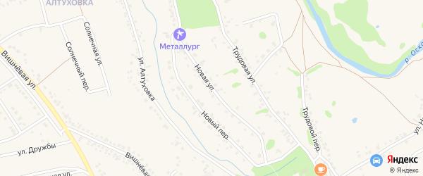Новая улица на карте села Федосеевки с номерами домов
