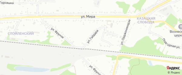 Улица Гайдара на карте Старого Оскола с номерами домов
