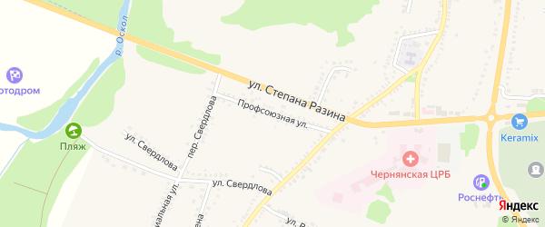 Профсоюзная улица на карте поселка Чернянка с номерами домов
