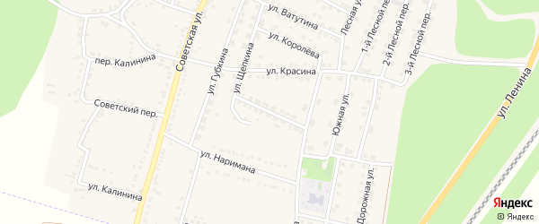 Кооперативная улица на карте поселка Чернянка с номерами домов