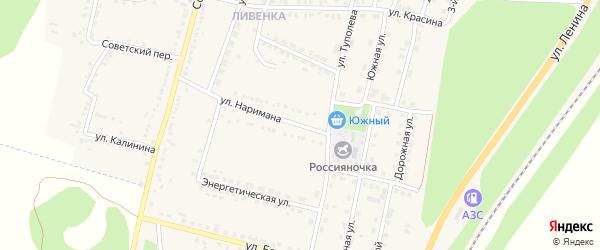 Улица Наримана на карте поселка Чернянка с номерами домов