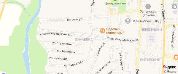 Красногвардейская улица на карте поселка Чернянка с номерами домов