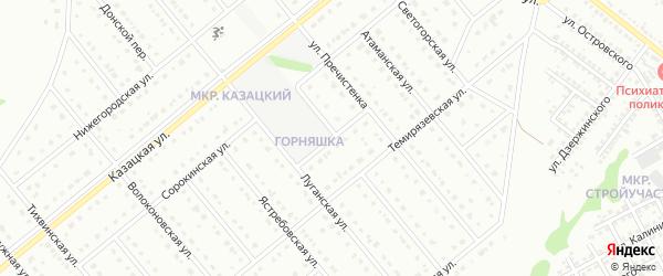 Луганский переулок на карте Старого Оскола с номерами домов
