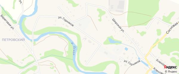 Улица Горняков на карте села Каплино с номерами домов