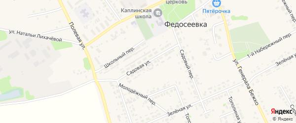 Садовая улица на карте села Федосеевки с номерами домов