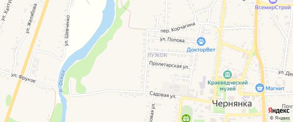 Радужная улица на карте поселка Чернянка с номерами домов