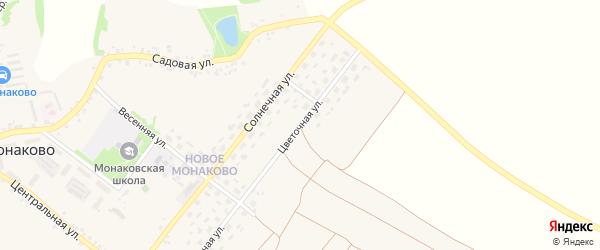 Цветочная улица на карте села Монаково с номерами домов
