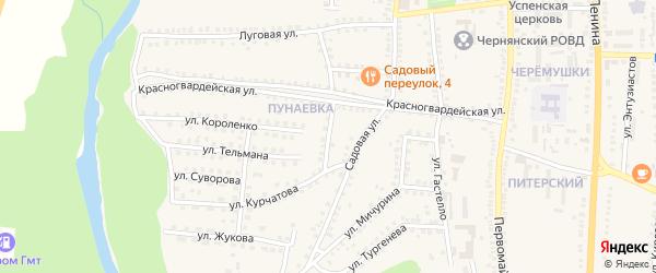 Красногвардейский переулок на карте поселка Чернянка с номерами домов