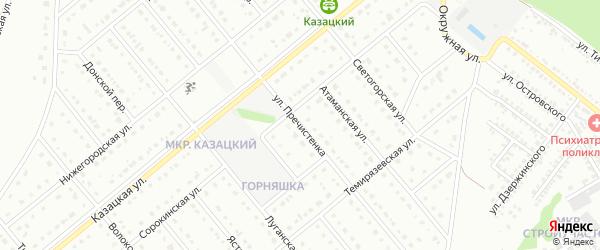 Улица Пречистенка на карте Старого Оскола с номерами домов