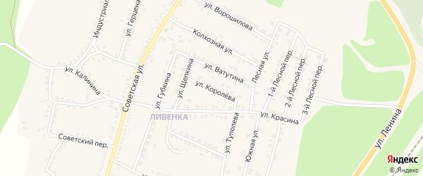 Улица Королева на карте поселка Чернянка с номерами домов