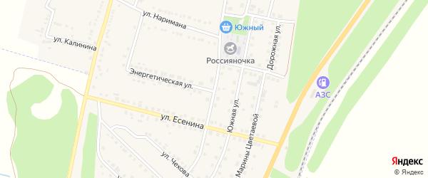 Улица Туполева на карте поселка Чернянка с номерами домов