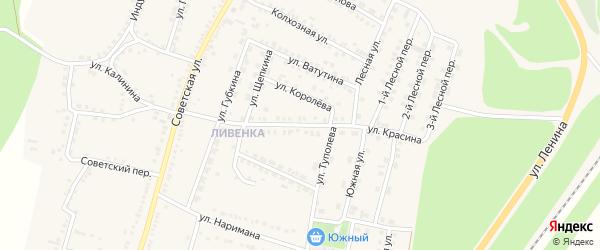 Улица Красина на карте поселка Чернянка с номерами домов
