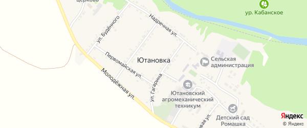 Студенческая улица на карте села Ютановки с номерами домов