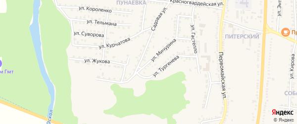 Улица Мичурина на карте поселка Чернянка с номерами домов
