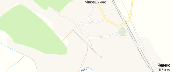Улица Гагарина на карте села Макешкино с номерами домов