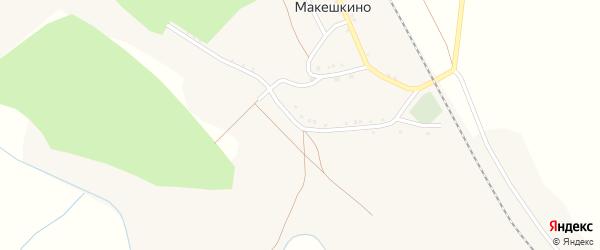 Улица Городок на карте села Макешкино с номерами домов