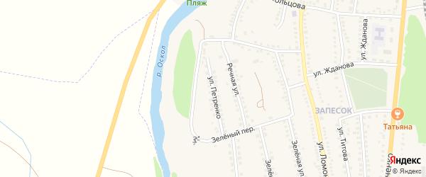 Улица Петренко на карте поселка Чернянка с номерами домов