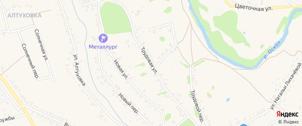 Трудовая улица на карте села Федосеевки с номерами домов