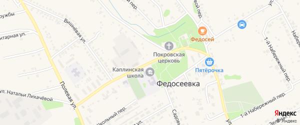 Улица Натальи Лихачевой на карте села Федосеевки с номерами домов