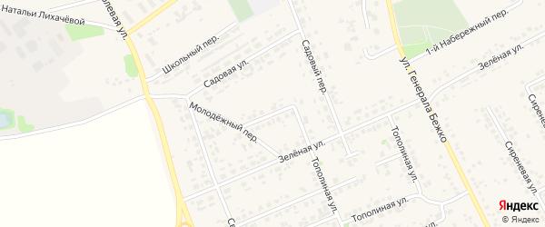 Яблоневая улица на карте села Федосеевки с номерами домов