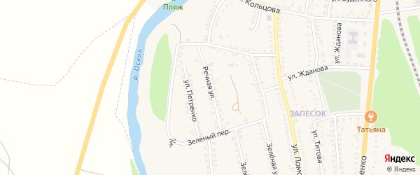 Речная улица на карте поселка Чернянка с номерами домов