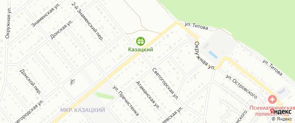 Светогорская улица на карте Старого Оскола с номерами домов