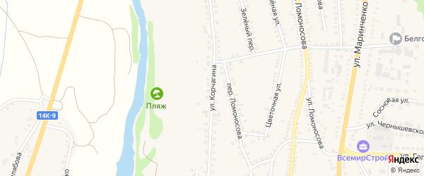 Улица П.Корчагина на карте поселка Чернянка с номерами домов