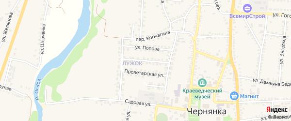Пролетарский переулок на карте поселка Чернянка с номерами домов