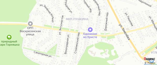 Стойленский переулок на карте Старого Оскола с номерами домов