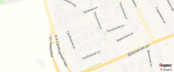 2-й Свободный переулок на карте села Федосеевки с номерами домов