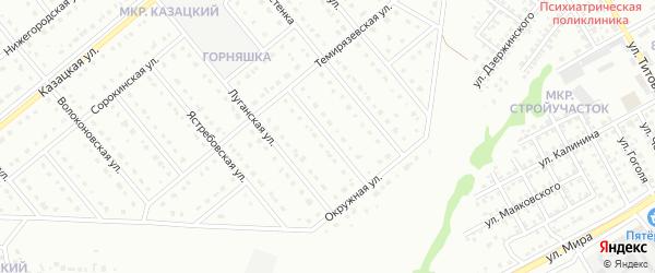 Темирязевский переулок на карте Старого Оскола с номерами домов