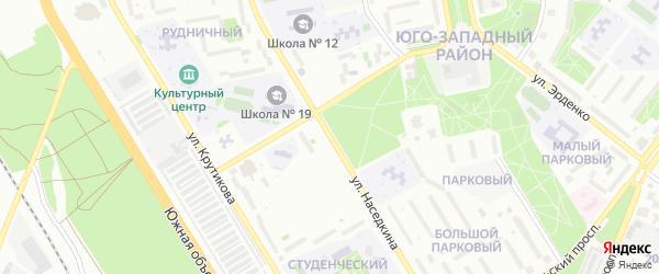 Улица Наседкина на карте Старого Оскола с номерами домов