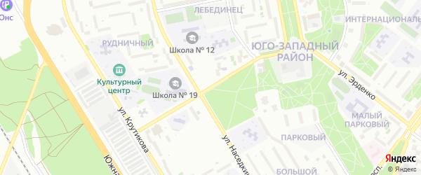 Улица Щепкина на карте Старого Оскола с номерами домов
