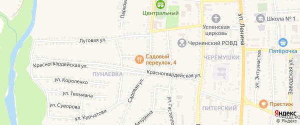 Садовая улица на карте поселка Чернянка с номерами домов