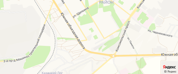 ГСК Металлург-2 на карте Старого Оскола с номерами домов
