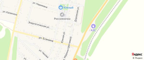 Улица М.Цветаевой на карте поселка Чернянка с номерами домов