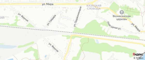 Улица Орджоникидзе на карте Старого Оскола с номерами домов