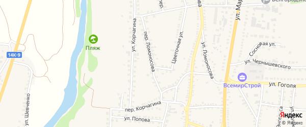 Переулок Ломоносова на карте поселка Чернянка с номерами домов