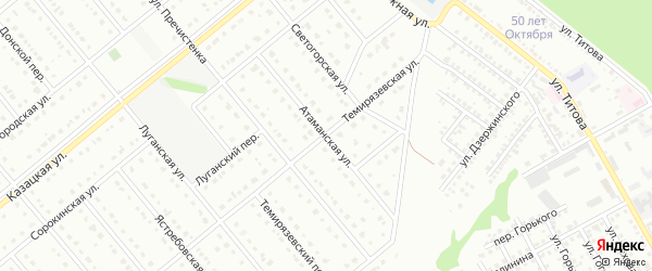 Атаманская улица на карте Старого Оскола с номерами домов