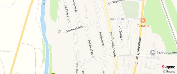 Зеленый переулок на карте поселка Чернянка с номерами домов